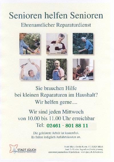 Senioren helfen Senioren - ehrenamtlicher Reparaturdienst