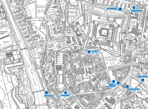 Grafik: Plan Parkplätze Innenstadt