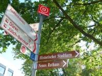 Grafik: Schilderbaum Radwege