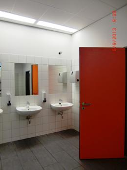 sanierte WC-Anlagen Vorraum