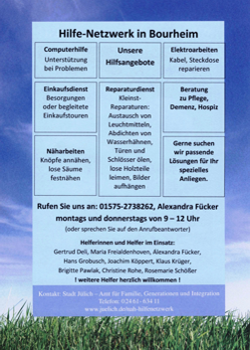Flyer Hilfe-Netzwerk in Bourheim