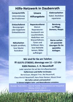 Flyer Hilfe-Netzwerk in Daubenrath