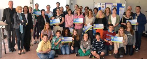 Gruppenbild Abschlussveranstaltung Aktiv fürs Klima