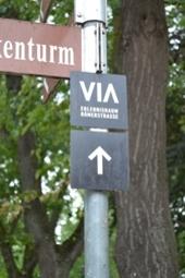 Hinweissschild 1 ViaBelgica ehemalige Heerstraße