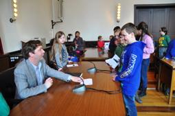 Autogrammstunde Bürgermeister Fuchs