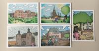 Postkartenset Comic Sommer