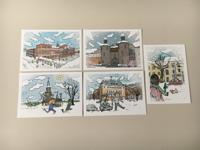 Postkartenset Comic Winter