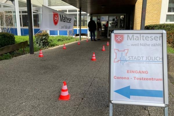 BIld: Das Jülicher Testzentrum im Forum Am Aachener Tor