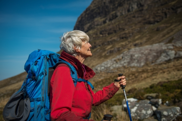 Bild: Edie vor dem Berg Sullivan
