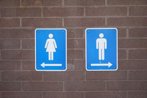 Bild: Piktogramme für Damen und Herrentoilette
