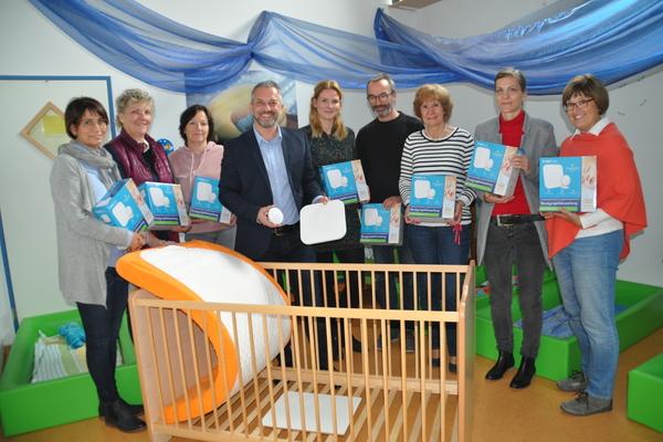 Die Teilnehmer freuen sich über die Babysensormatten