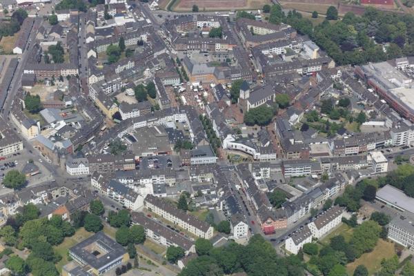 Bild: Eine Luftaufnahme der Jülicher Innenstadt