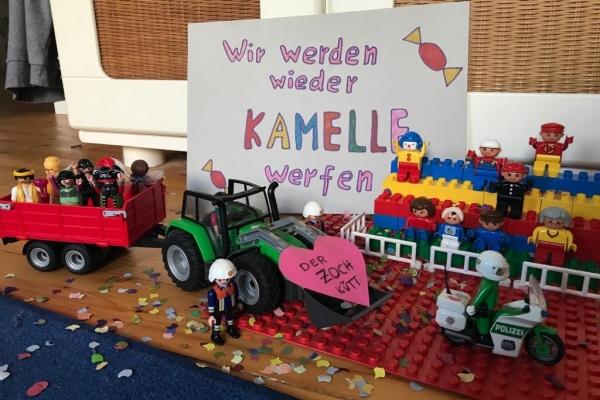 Bild: Isabella hat den tollen Karnevalszug gebaut. Bild: Stadt Jülich / Hemsing