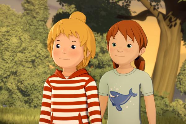 Bild: Ausschnitt aus dem Annimationsfilm mit Conni und Anna