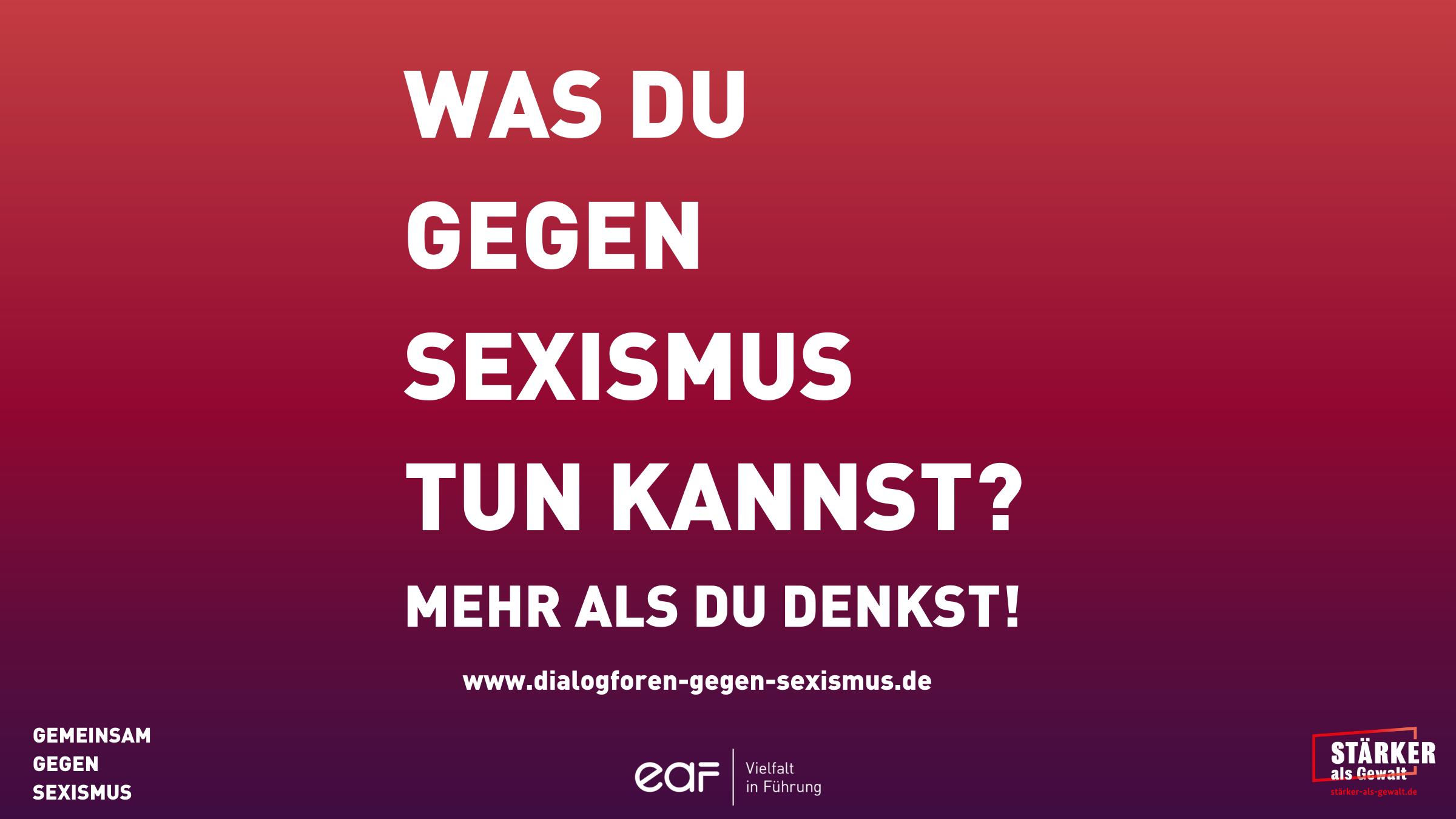 Was du gegen Sexismus zun kannst? Mehr als du denkst!